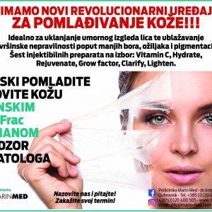 Dubinski obnovite i pomladite kožu vrhunskim Dermafrac tretmanom!!!
