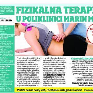 Fizikalna terapija u Poliklinici Marin Med
