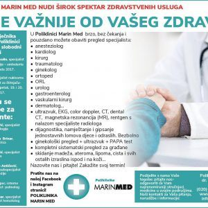Poliklinika Marin Med nudi širok spektar zdravstvenih usluga!
