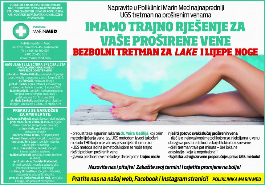 Imamotrajno rješenje za Vaše proširene vene. Bezbolni tretman za lake i lijepe noge.