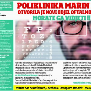 Poliklinika Marin Med otvorila je novi odjel oftalmologije!